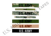 U.S. Army Name and Service Tapes for Sew On
