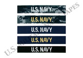 U.S. Navy Name and Service Tapes for Sew On
